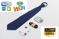 Wifi Caméra Sans Fil Dvr Pas Cher-HD 1080p Spy Necktie Camera Sans fil WIFI Cravate Camera Body Worn Hidden Camera Mini Neck Tie Pinhole DVR