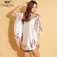 Wholesale Sexy Pyjamas Women - European and American ladies sexy pyjamas summer women silk pajamas