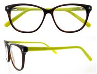 Wholesale Vintage Optic Glass - Unisex Vintage Round Eye Glasses With Clear Lens, Women Men Plain Mirror Prescription Myopia Optic Frame Eyeglasses B2012