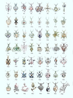 Wholesale Mixed Gems - 18kgp Fashion love wish pearl  gem beads locket cages, lovely DIY charm pendant mountings wholesale 100pcs lot (can mix different styles)