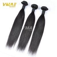 Wholesale Healthy Hair Color Products - Straight Indian Virgin Hair 3 Bundles Lot Free Human Hair Weave Healthy Smooth Cheap Soft Product