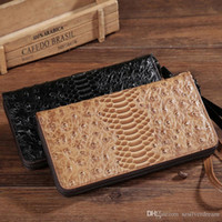New Vintage Men Wallet Purse Genuine Cow Leather Long Clutch Bags Business Black Brown Mini Card Holder Coin Pocket Note Compartimento