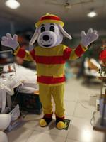 Wholesale Mascot Costume Fireman - Fireman fire dog mascot costume Adult Size free shipping