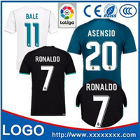 Wholesale Host Green - 2018 football champions league fan edition jerseys, 2017   18, Real Madrid soccer jerseys, host guest 1718th, Ronaldo football, jeresys Asen