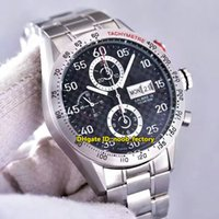 Wholesale Calibre Digital - Luxury Brand Top Quality AAAAA Calibre 16 Day-Date Chronograph Flyback ETA 7750 Automatic Men's Watch CV2A80 Black Dial Steel Strap Watches