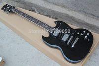 Wholesale Electric Guitar Sg Standard - OEM Free Shipping Classic SG custom SG400 SG standard Black Electric Guitar 2015 1