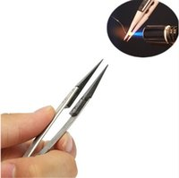 Wholesale Nose Wire - Hot Ceramic Tweezer Electronic Cigarette Resistance Wire Heat Resistant Interchangeable Head Pointed Tip Anti-static Pliers