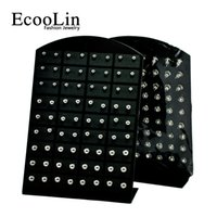 Wholesale Iron Rocks - 72Pcs Wholesale Jewelry Nnice Retro rock iron ball Stainless Steel Ball Stud Earrings Bulk Lots Comprising Display Boards LR282