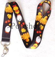 Wholesale Buy Card Id - wholesale 50pcs Some patterns about yellow ducks and fawns Lanyard Strap Cell Mobile Phone ID Card Key chain(Buy free shipping new).