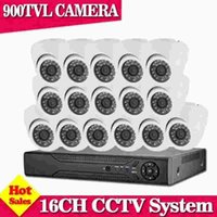 Home Surveillance 16CH AHD 960H HDMI DVR Indoor Dome 900TVL Nachtsicht Startseite CCTV Security Kameras System Kits mit HDD