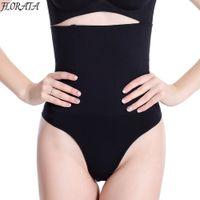 Wholesale Hip Girdle Underwear - Wholesale- Seamless Body Shaper Panty Butt Lifter Thong High Waist Slimming Cincher Shapewear Tummy Control Girdle Hip Enhancer Underwear