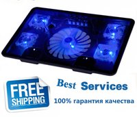 Wholesale NA JU Brand Fan USB Laptop Cooler Cooling Pad Base LED Notebook Cooler Computer USB Fan Stand For Laptop PC Video quot