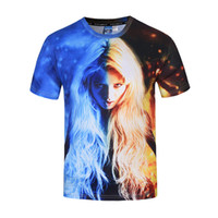 Wholesale New fashion D t shirt noveltyl beauty design for male big size Short Sleeve tops tees originality new brand men s d T shirt MB0196