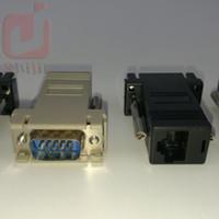 extensor femenino de lan masculino al por mayor-Adaptador de Cable de red de alta calidad VGA Extender Macho A LAN CAT5 CAT5e CAT6 RJ45 Hembra 300ps / lot