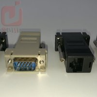 weibliche männliche lan extender großhandel-Hochwertige Netzwerkkabel Adapter VGA Extender Stecker auf LAN CAT5 CAT5e CAT6 RJ45 Buchse 300ps / lot