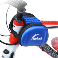Wholesale Top Tube Bag Phone - Free Shipping Waterproof Bicycle Top Tube Front Frame Bags Mountain Double Side bags cycling pouch Sucker Design For Mobile Phone