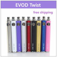 Wholesale Ego Twist Evod Kit - EVOD ecig adjustable voltage twist battery - 60PCs. 650mah 900mah 1100mah adjust voltage by twist battery suit for all series ego kit.