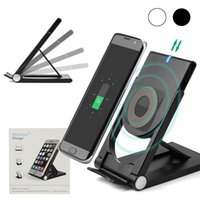Wholesale Wireless Charger Stand - New Arrival Fast Wireless Charger Charging Stand Dock QI Universal Full Set Wireless Charger Receiver Adapter wireless charger with Qi mobi