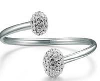 Wholesale Diamond Bangle Bracelet Silver 925 - S 925 Sterling silver diamond bracelet bangle bracelet female anti - allergic plating platinum bangle