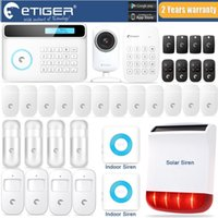 Wholesale Solar Powered Ip Camera Wireless - LS111- S4 plus kits  eTIGER GSM SMS Alarm System+Solar Power Siren+Indoor Siren+ IP Camera Super Kit