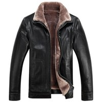 Wholesale Waterproof Overcoat - Mens Fur Jackets Winter Coats Warm Leather Jackets Thickening Big Size M-4XL Cashmere Outwear Overcoat Waterproof Good Quality