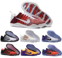 Wholesale Horse Cuts - High Quality Kobe 11 Elite Men Basketball Shoes Red Horse USA White Multicolor Bruce Lee Eulogy KB 11 Sports shoes Sneakers eur 41-46