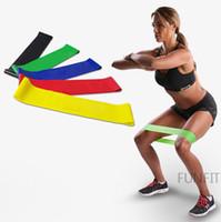 ejercicios de pierna bandas de resistencia al por mayor-100% resistencia de látex natural banda de bucle culturismo ejercicio físico ejercicio de alta tensión músculo en casa para el entrenamiento con pesas en el tobillo de la pierna
