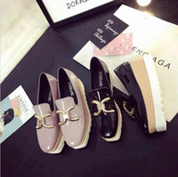 Wholesale Ladies Platform Shoes Elastic Band - 2017 Europe lady high-heeled shoes new flat shoes wholesale platform shoes with 2017 spring and summer one generation