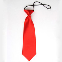 Wholesale Toddlers Wedding Suits - Wholesale- New Boy Kids Baby Toddler Wedding Party Neck Tie Necktie School Suit Accessories RED