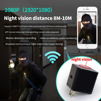 Wholesale adapter camera dvr motion online - WIFI night vision charger DVR EU US UK USB Charger mini IP Camera Full HD P Motion Detection AC Adapter plug Camera