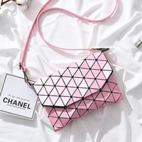 Wholesale Small Square Buckle - 2017 new high-quality Miyake with the same paragraph female package small square bag, creative trend handbag, buckle single shoulder Lingge