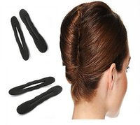 2 xBLack Magic Foam Sponge Hair Styling Donut Bun Maker Бывший французский инструмент Twist # R492
