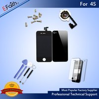Wholesale Iphone 4s Complete - For Black iPhone 4S Full Complete LCD Screen Front Display Digitizer Assembly with Accessories & Free Shipping