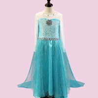 Wholesale cosplay lolita clothing online - frozen Princess dress children s wear children cos Girl dresses summer dress Princess Dresses Fshion Cosplay Clothing