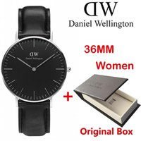 Wholesale Watches Men Swiss - The New hot Selling Brand Swiss DW men 40mm women 36mm quartz watch ultra-thin luxury brand watches with Original box Relogio clocks