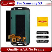 Wholesale Original Lcd For Galaxy S3 - For Samsung Galaxy S3 lcd Original quality AAA I9300 I9308 I9305 T999 i535 I747 LCD Display Digitizer Touch screen No Frame
