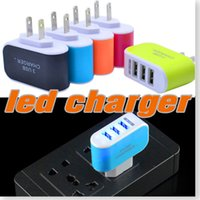 Wholesale charger for charging multiple usb for sale – best Wall Charger V A EU US Plug Ports Multiple LED Wall USB Smart Charger Adapter Mobile Phone Device Fast Charging for iPhone