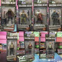 Wholesale Dead Dolls - AMC TV Series The Walking Dead Abraham Ford Bungee Walker Rick Grimes The Governor PVC Action Figure Collectible Model Toy