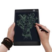 yeni çizim tableti toptan satış-Yeni 9.7 inç Yaratıcı LCD Bloknot Not Defteri Elektronik Esnek Çizim Tablet Grafik Kurulu CR2016 Düğme Pil Dahili