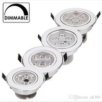 Wholesale Dimmable Recessed 9w Pure White - 9W 12W LED Downlight Dimmable Warm White Nature White Pure White Recessed LED Lamp Spot Light AC85-265V