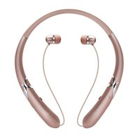 geri çekilebilir iphone kulaklıklar toptan satış-HX965 Bluetooth Kulaklıklar Kablosuz CSR4.1 Gerdanlık Kulaklıklar iPhone Android Akıllı Telefonlar için MIC ile Geri Çekilebilir Kulakiçi Spor Kulaklık