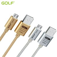 Wholesale Data Sync Charge Cable - GOLF 25cm 100cm 150cm 200cm 300cm Metal Nylon Braided USB Data Sync Charging Cable For Smart Phone