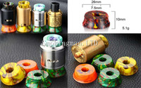 Wholesale E Cigarette Display Metal - Colorful Epoxy Resin Display Stand Base Holder Display for 510 Metal E Cigarette Ecig RDA RBA RTA TFV8 TF12 Tank Atomizer