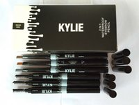 Wholesale Pen Comb - Kylie Jenner Cosme Double-end 3 Colors Waterproof Eye brow Pencil Automatic Pro Makeup Eyebrows Set With Comb Brush 2 in 1 Pen