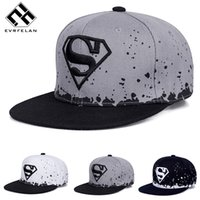 Wholesale Superman Baby Hats - Fashion Superman Hat Adult And Child Snapback Hat For Boy Snapback Caps Baby Hip Hop Hats Baby Baseball Cap Hip Hop Sun Cap