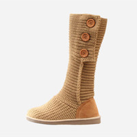Wholesale winter woolen shoes - Wholesale- 2015 Hot sale winter women boots soft woolen boots round toe winter women shoes fashion mid-calf boots for women XZ108