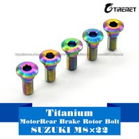 Wholesale Gsxr Brake Disc Rotor - Titanium Ti M8x22mm Rainbow color Suzuki GSXR Disc Brake Rotor Bolt Screws 6pcs Motor
