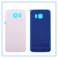 New Back Door Housing Rear Glass Battery Cover With Adhesive For Samsung Galaxy S6 Edge G9250 G925F Back Cover White Black Blue