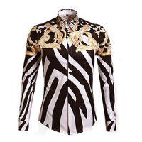 fancy shirts mann großhandel-Großhandels- Luxuxkönigliche Art und Weise  stilvolle Mann-Hemd- cd1b763026