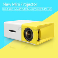 Wholesale New Portable Home Theater - New Arrival Mini Projector YG300 Big Screen Innovative Design LED Light Multi-media AV HDMI Cooling System Portable Theater Pocket Proyector